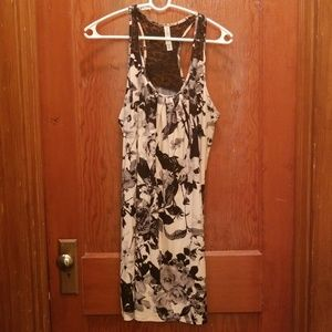 Blush and black floral nightgown